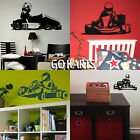 Go Kart Wall Stickers Transfer Graphic Decal Decor Art Stencils Boy Room Karting