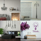 Lights & Lamps Wall Stickers!  Modern Home Vinyl Transfer Graphic Decals Decor