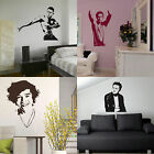 Male Celebrity Wall Stickers! Transfer Graphic Decal Decor Celebs / Celebrities