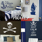 Pirate Wall Stickers Transfer Graphic Decal Decor Art Stencil Boys Room Stickers