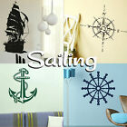 Sailing Wall Stickers! Home Transfer Graphic Decals Decor Boat Stencil Boys Ship