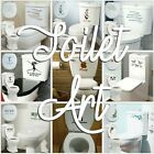 Toilet Stickers Decal Bathroom Transfer Art Interior Decoration Cover Quote Uk!