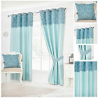 Ready Made Teal Curtains Paisley Panel Designer Eyelet Lined Contemporary Living