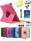 360 Rotating Cute Cartoon Leather Smart Case Cover For Ipad 4 3 2 Air Mini 3 2 1
