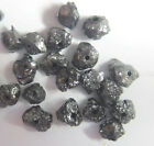 2 to 3 mm size 2.04 ct lot loose diamonds beads jet black color africa nr