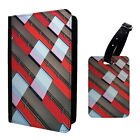 Glass Pattern Printed Luggage Tag & Passport Holder - T2735