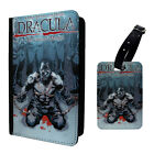 Dracula Comic Printed Luggage Tag & Passport Holder - T2723