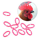50 Pcs Chicken Beak Clasps Cock Snap Rings Anti-pecking Poultry Feather Tool