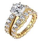 3.20 CT Ladies 14K Yellow Gold Halo Set Diamond Women's Bridal Engagement Ring