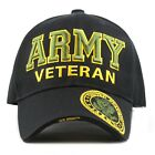 Official Licensed Military 3D Embroidered Logo Veteran Cap-Army