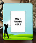 "3.5""x5"" PHOTO FRAME - GOLF 9 Golfer Swing Par Athlete Ball Game Sports Gift"
