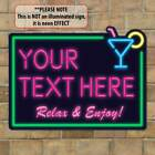 Personalised Cocktail Custom Bar Plaque, Home Bar Sign, Man Cave Sign, Gin Bar