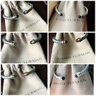 David Yurman Sterling Silver 925 5mm Wide Cable Classic Bracelets with 14K Gold