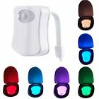 LED Toilet Night Light Bathroom PIR Motion Activated Seat Sensor 8Color Changing