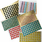 Rhinestone Stickers / 3.5mm / Pk 176 / Scrapbooking / Invitations / Craft