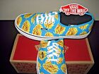 Vans Authentic Womens Late Night Blue Atoll Fries Canvas Shoes Size 8.5 NWT