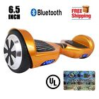 """UL 2272 Certified Bluetooth Hoverboard 6.5"""" Self Balancing Scooter Electric Gold"""