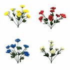 Beautiful Artificial Open Rose Flower Bunch For Decoration | In 4 Colours