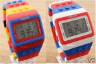 UNISEX KIDS LED DIGITAL SPORT STRIPE COLOURFUL WATCHES