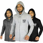 Mens Ecko Unlimited Full Zip Hoodie Hooded Top in Grey Charcoal Black - S M L XL