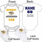PERSONALIZED NASHVILLE PREDATORS FAN BABY GERBER ONESIE / SOCKS CUSTOM MADE GIFT $22.99 USD on eBay