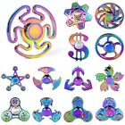 HOT ! Tri Fidget Hand Spinner Rainbow Finger Gyro Desk Toy EDC Focus ADHD Autism