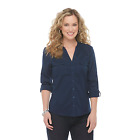 Laura Scott Navy Blue Button Up Assorted Sizes NWT Free Shipping!!