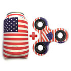 1pc Lot of Hand Tri Fidget Spinner and US Flag Magnetic Can Koozie / Coozies