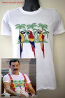 Parrot t-shirt worn by Freddie Mercury 1985 Queen Brian May Roger Taylor flash