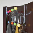 10 Hook Over the Door Hanger Clothes Coat Hat Scarf Bag Hanging Rack Organizer