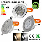 3W 5W 7W CREE Dimmable LED Downlight Recessed Ceiling Light Bulb Indoor Lighting