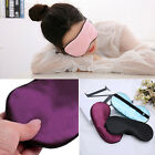 Soft Silk Sleep Eye Mask Padded Shade Cover Travel Relax Aid Blindfold Eyepatch