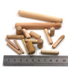 WOODEN DOWELS WOODWORK FLUTED PINS *6 WIDTHS & 8 LENGTHS* GROOVED PLUGS HARDWARE