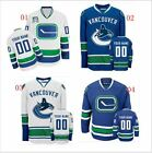 Youth Custom Vancouver Canucks Hockey Jerseys Personalized Embroidered Size S-XL