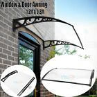 US 3 Sizes PC Window Awning Outdoor Front Door Canopy Patio Garden Shade Cover