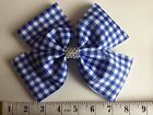 Handmade School Uniform Gingham 8 inch Extra Large Double Boutique Bow Hair Clip