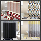 Внешний вид - MANY DESIGN PRINTED BATHROOM BATH MAT SET RUG FABRIC SHOWER CURTAIN RINGS 15PC