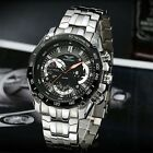 Top Brand Luxury Chronograph Stainless Steel Mechanical Watch Luminous Men Watch