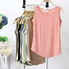Women Yoga Cotton Sleeveless Tank Tops Camisole Blouse Sport Vest