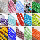 """Mixed Color Synthetic Opal Gemstone Round Loose Beads 15.5"""" Inches Strand"""