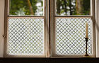Etched Glass Window Film FROSTED EFFECT Classic geometric modern contempory home