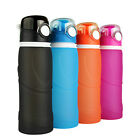 Collapsible Water Bottles BPA-Free Sports Water Bottles for Camping Running Yoga