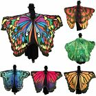 Colorful Long Butterfly Wing Cape Dress Soft Scarf Wrap Shawl Ladies Women New