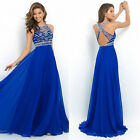 Women's Chiffon Long Dress Evening Party Formal Bridesmaid Prom Ball Gowns Dress