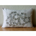 """Ivory Crystals 12""""x14"""" Silk Lumbar Pillow Cover - Crystal Clear"""