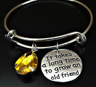 It takes a long time to grow an old friend Bracelet, Friend Bracelet, Friendship