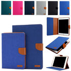 Canvas Smart Stand Case Cover with Auto Sleep Wake for iPad Pro10.5 Mini1 2 3 4