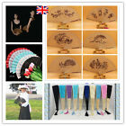 Priting Wooden Lace Folding Fan HandHeld Party Wedding Dance Prom Photo Gift UK