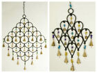 Hanging Decoration Hanging Circles With Beads And Bells choice of Two sizes
