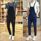 Mens Stylish Dungarees Straight Overalls Suspenders Jumpsuits Trousers Chz hot